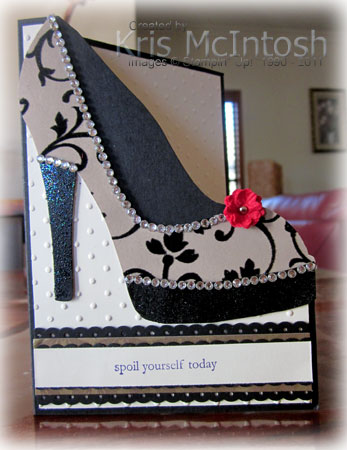 High heel shoe template for card for High heel template for cards
