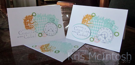 vellum and note cards stamping with kris