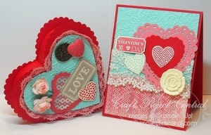 Valentine Heart Box & Card