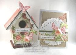 Altered Birdhouse & Card